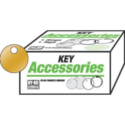 Hy-Ko Round Tag, Solid Brass, KB147 - 100 pack