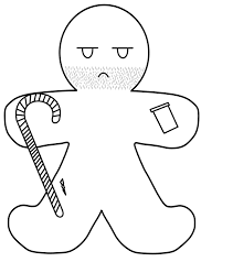 Gingerbread Man House Coloring Pages Klejonka
