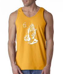 new way 434 men u0027s tank top praying hands drake views from the 6