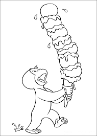 Curious George Hundley Coloring Pages