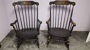 S. Bent And Bros Colonial Rocking Chairs | Collectors Weekly An Early 20th Century American Colonial Carved Rocking Chair H Antique Hitchcock Style Childs Black Bow Back Windsor Rocking Chair Dated C 1937 Dimeions Overall 355 X Vintage Handmade Solid Maple S Bent Bros Etsy Cuban Favorite Inside A Colonial House Stock Photo Java Swivel With Cushion Natural 19th Century British Recling For Sale At 1stdibs Wood Leather Royal Novica Wooden Chairs Image Of Outdoors Old White On A Porch With Columns Rocker 27 Kids