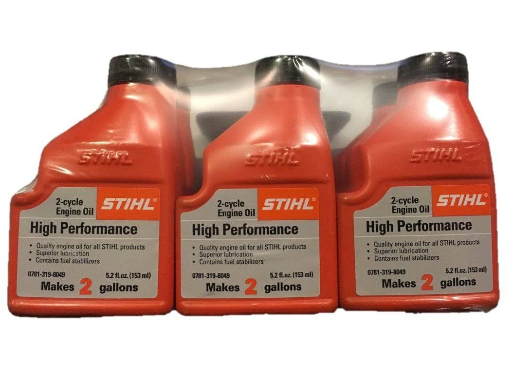 Stihl 0781 319 8050 5.2 Ounce High Performance 2 Cycle Engine Oil, 6 Pack