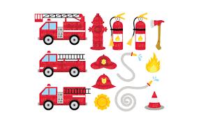 100 Fire Trucks Unlimited TruckDigital Clipart LESCL50