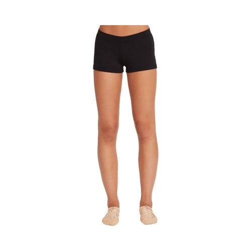 Capezio Women's Low Rise Boy Cut Short - Black, Small
