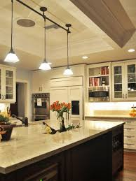 inspiring kitchen island track lighting about interior decorating