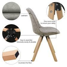 stuhl esszimmerstuhl küchenstuhl 2er set hell grau marmor