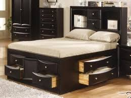 Full Size Bed with Storage and Mattress — Modern Storage Twin Bed