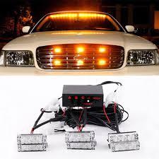 100 Emergency Strobe Lights For Trucks 18 LED Dash Flashing Warning For Car Truck