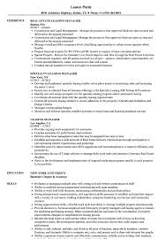 Download Leasing Manager Resume Sample As Image File