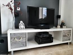 Ikea Expedit TV Stand With Pallet Boxes