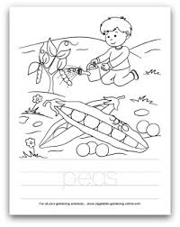 Preschool Vegetable Coloring Pages