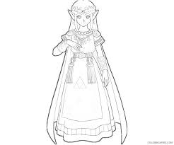 Princess Zelda Coloring Pages To Print Coloring4free