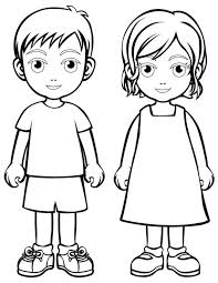 Lovely Children Coloring Pages 88 For Your Online With