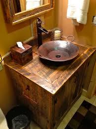 Alluring Rustic Style Bathroom Vanities And Look