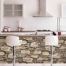 Hadrian 3D Ledge Stone Rock Brick Wall Peel And Stick Wallpaper Brown Gray