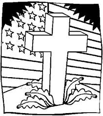 A Cross In Front Of An American Flag
