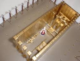 Photo Showing Placement Of Holy Place Walls In The Tabernacle Kit Overhead View
