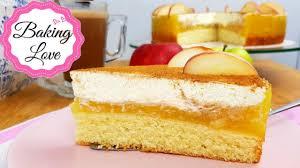 die perfekte sonntagstorte i himmlisch leckere apfel schmand torte i fruchtig frische apfeltorte