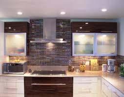 Glass Backsplash Ideas With White Cabinets by Kitchen Decorative Glass Backsplash Kitchen As Well As
