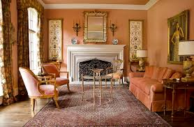 Coral Color Interior Design by Coral Color Combinations Trend Dallas Traditional Living Room