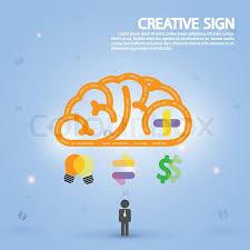 Creative Brain Idea Concept Background Design For Poster Flyer Cover Brochure Business Dea Abstract Backgroundvector Illustration