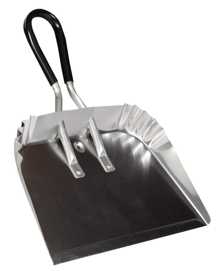 "DQB Industries 17"" Metal Dust Pan with Soft Grip Handle"