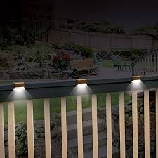 Solar Lights For Deck Stairs by Ideaworks Solar Powered Deck Step Lights 3 Pack Wall Mount Patio