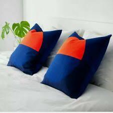 ikea blamossa pillowcase pillow white orange