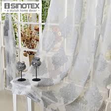 fenster vorhang grau luxus tulle voile stoff für vorhänge wohnzimmer gardinen hause dekoration screening 1 teile los