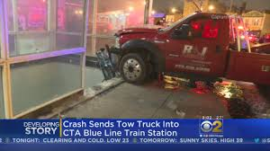 Tow Truck Slams Into A CTA Blue Line Station In Logan Square. - CBS ... Tow Truck Driver Jobs Salary Best Image Of Vrimageco 26 Top Aaa Tow Information Kimberlys Towing Kimberlys_towing Instagram Profile My Social Mate 10 Top Paying Driving Specialties For Commercial Drivers It Aint Easy Being A In Vancouver Magazine Truck Operator Salary Archives Hashtag Bg Driver By Issuu Home Halls Service Roadside Assistance How Much Does Business Profit Bizfluent February 2017