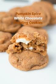 Pumpkin Spice Pudding Snickerdoodles by Pumpkin Spice White Chocolate Cookies Oh Sweet Basil