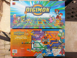 Game Digimon Ultimate Adventure Board Manufacturer The Mad Hatters Toy And Factory Year 2000