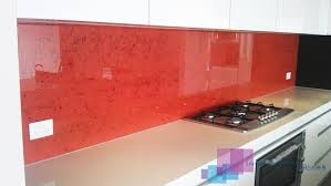 Red Painted Glass With Printed Marble FX