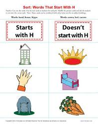 Words Starting With H