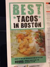 Eating Boston – Eating My Way Through Boston, One Foodie-hotspot At ... Wicked Fish Tacos Los Angeles Food Trucks Roaming Hunger Twenty Inspirational Images Boston New Cars And Joes Retirement Blog Fugu Truck Massachusetts Usa A Sneak Peak At The Taco Restaurant In Cambridge Magazine Turbotaco Minneapolis Collection Of Chipotle Mayo Little Spice Jar Baja Food Baja Heres Where To Find This Summer Eater Taco Reho Rehoboth Beach De Chicago Unique Brats Bbq Here S Each Memphisu Top Restaurants One
