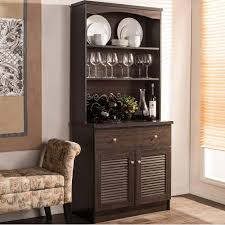 Tall Skinny Cabinet Home Depot by Baxton Studio Agni Dark Brown Wood Buffet With Hutch 28862 6493 Hd