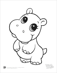Full Image For Leapfrog Printable Baby Animal Coloring Pages Hippo Childrens Christmas