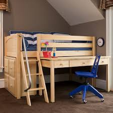 Marvelous Low Loft Bed With Desk Carter Low Loft Bed With Dressers