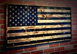 Large Wooden American Flag Wall Art Rustic Wood Zoom
