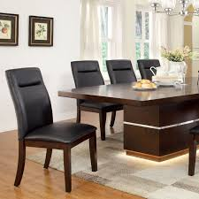 Lawrence Contemporary Dark Cherry Wood Led Light Dining Set