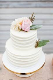 Simple Sweet Rustic Buttercream Wedding Cake