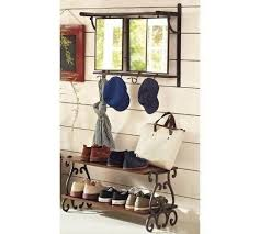 Pottery Barn Triple Mirror Train Rack And Moran Entryway Storage