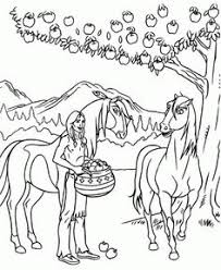 Some Apples For Spirit And Rain Coloring Page From Stallion Of The Cimarron Category Select 30443 Printable Crafts Cartoons Nature