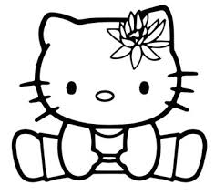 Hello Kitty Lovely As Angel Coloring Page
