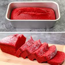 velvet pound cake eggless without oven velvet tea time cake