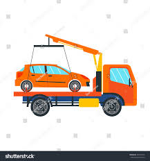 100 Tow Truck Vector Illustration On White Stock Royalty Free