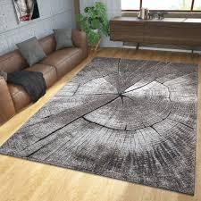 teppich modern baumstamm natur grau braun