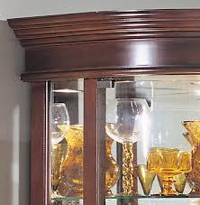 auberge curved corner curio cabinet in cherry by philip reinisch