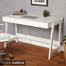 Parsons Mini Desk Aqua by Contemporary Two Drawer Student Desk In White Free Shipping