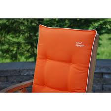 High Back Patio Chair Cushions by Orange With Beige High Back Patio Chair Cushions Set Of 2 Free